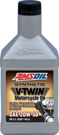 AMSOIL 20W-50 Synthetic V-Twin Motorcycle Oil